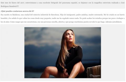 Entrevista en El Molí de la Llum